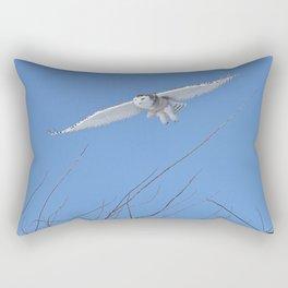 Snowy Owl Soaring High Rectangular Pillow