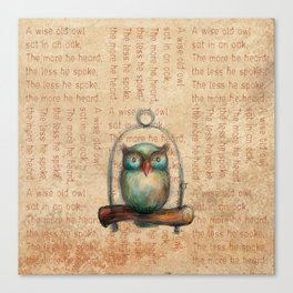 Wise Owl III Canvas Print