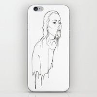 three of the possessed iPhone & iPod Skins featuring Ink Possessed Melting Girl by Casstronaut