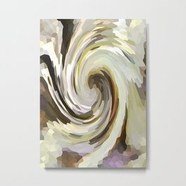 Driftwood Berry Swirl Metal Print