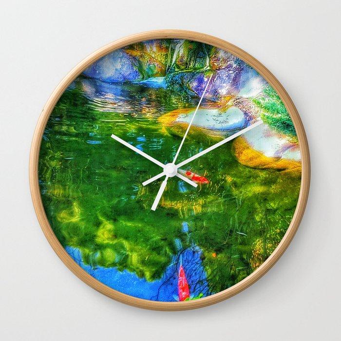 Glowing Reflecting Pond Wall Clock