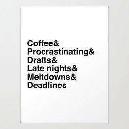 Deadlines Helvetica Art Print