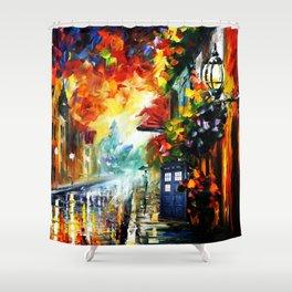 Starry Tardis Night Shower Curtain