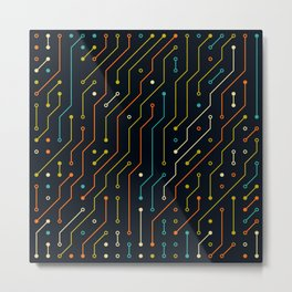 Circuit 3 Metal Print