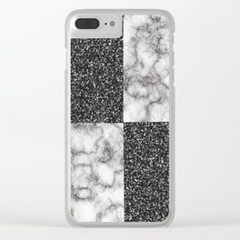 Marble Texture Combo-IV Clear iPhone Case