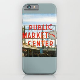 Seattle Pike Place Market iPhone Case