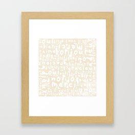 Oui Oui Mon Cheri French Typography Duvet Cover Framed Art Print