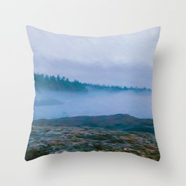 North Shore Fog Throw Pillow