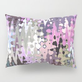 Violet shades icicles, abstract geometric jagged shapes, sharp forms Pillow Sham