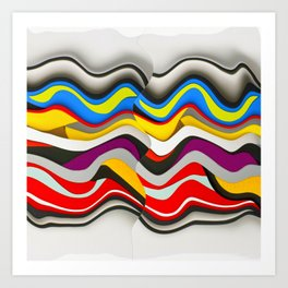 Colored Waves Art Print