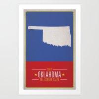 oklahoma Art Prints featuring OKLAHOMA by Matthew Justin Rupp