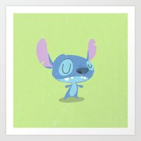 stitch Art Prints featuring Stitch by Rod Perich