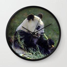 Panda breakfast Wall Clock
