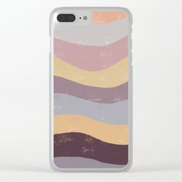 Abstract Waves of Color Clear iPhone Case