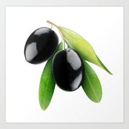 Black olives Art Print
