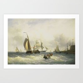 Willem Gruyter Jr. - Anchorage at Bremerhaven Art Print