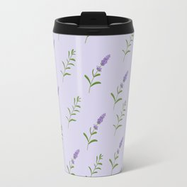 Artistic modern hand painted lavender floral pattern Travel Mug