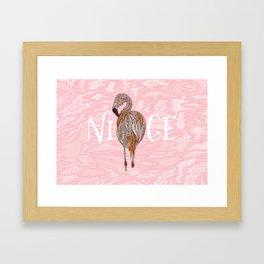Nice Flamingo Framed Art Print