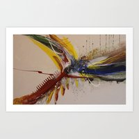 Space and colour 3 Art Print