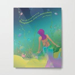 Mermaid I - Undersea Party Metal Print