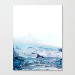 Indigo Abstract Painting | No.6 Canvas Print