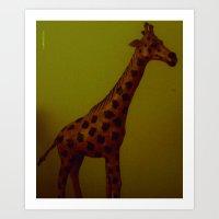 Full sized still life giraffe Art Print