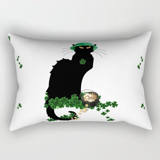 Le Chat Noir - St Patrick's Day Rectangular Pillow