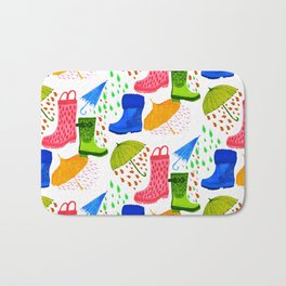 Gumboots and Puddles Bath Mat
