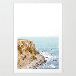 Travel photography Palos Verdes Ocean Cliffs Seascape Landscape I Art Print