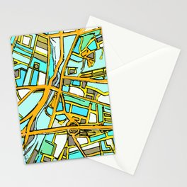 Abstract Map- Medford Square Stationery Cards