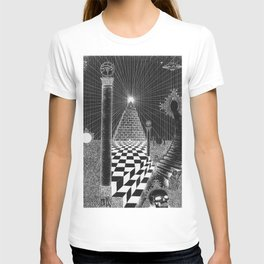 Stairs to the egyptian heaven T-shirt