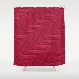Crimson Waves Shower Curtain