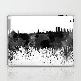 Istanbul skyline in black watercolor Laptop & iPad Skin