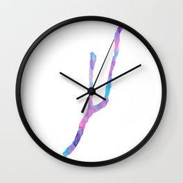 Keuka Lake Watercolor-Pink and Blue Wall Clock