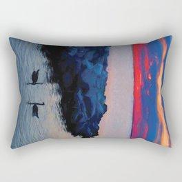 Two Geese Rectangular Pillow