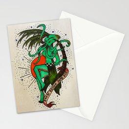 Cthulu Hula Girl Tattoo Stationery Cards