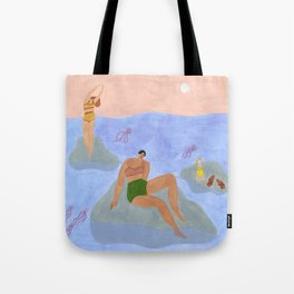 Lonely gals (wearing Frankie Shop bathing suits) Tote Bag