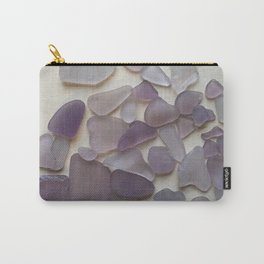 Genuine Purple Sea Glass Collection Carry-All Pouch