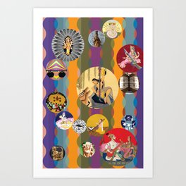 Musical Landscapes and the Goddesses of Music 9 Art Print