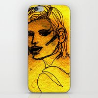 one line iPhone & iPod Skins featuring One Line by MRSCM Illustration