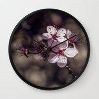 sakura Wall Clocks featuring Sakura by Le Arcara