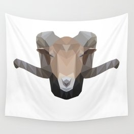 Low Poly Ram Wall Tapestry