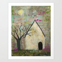 Little house of words Art Print