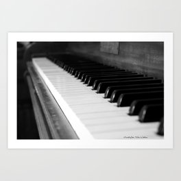 Antique Piano Art Print