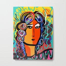 Portrait of a Gypsy Woman Fauvism Art By Emmanuel Signorino  Metal Print