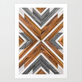Urban Tribal Pattern 4 - Wood Art Print