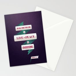 Romans 12:18 Stationery Cards