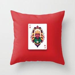 King of Diamond Throw Pillow