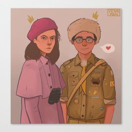 Sam and Suzy (Moonrise Kingdom by Wes Anderson) Canvas Print