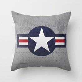 U.S. Military Aviation Star National Roundel Insignia Throw Pillow